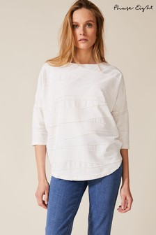 Phase Eight Cream Lori Sparkle Wave Top