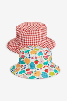 2 Pack Fruit Fishermans Hats (Younger)