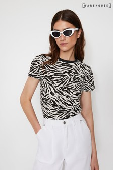 Warehouse Animal Zebra Print T-Shirt