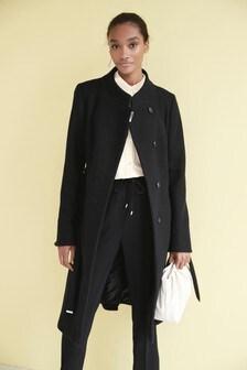 Ladies Black Wool Coat Uk, Ladies Black Wool Trench Coat Uk
