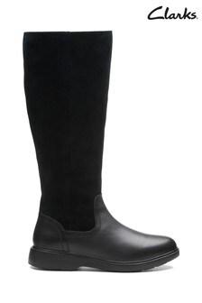 Clarks Black Un Elda Hi Boots