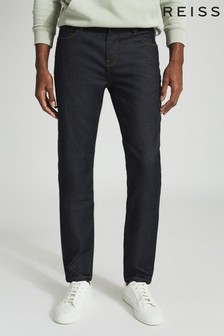 Reiss Blue Car Rinse Wash Jersey Stretch Jeans