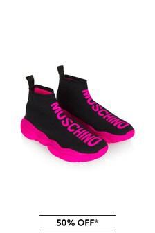 Moschino Kids Girls Black Trainers