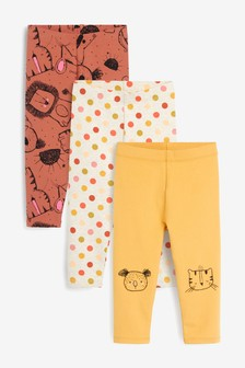 3 Pack Character Leggings (3mths-7yrs)
