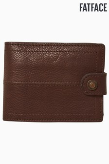 FatFace Brown Popper Detail Wallet