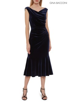 Gina Bacconi Blue Brialli Velvet Dress