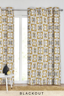 Eyelet Retro Petals Curtains