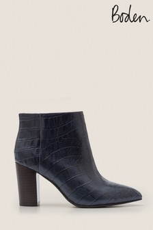 Boden Navy Langley Ankle Boots