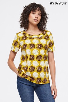 White Stuff Yellow Dhalia Top