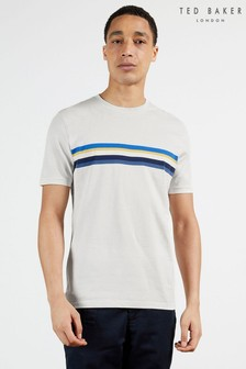 Ted Baker Grey Callz Chest Stripe Panel T-Shirt