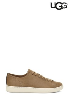 UGG® Taupe Leather Low Trainers