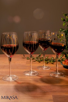 Set of 4 Mikasa Cheers Wine Glasses