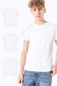 Hype. White Kids T-Shirts Three Pack