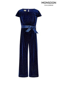 Monsoon Blue Glitter Jumpsuit