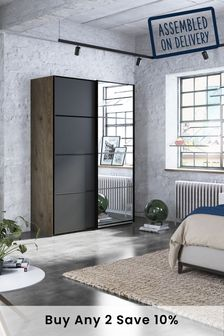 Jenson 1.5M Wood Sliding Wardrobe
