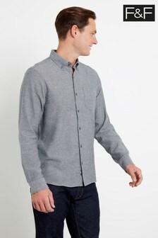 F&F Grey Long Sleeve Twill Shirt