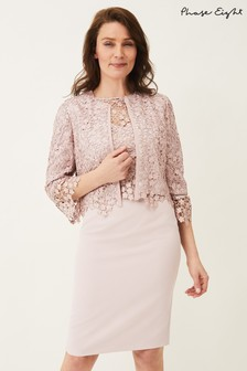 Phase Eight Pink Mariposa Lace Jacket