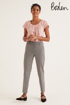 Boden Grey Malden Tweed Trousers