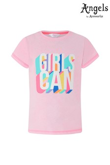 Angels by Accessorize Pink Girls Can T-Shirt