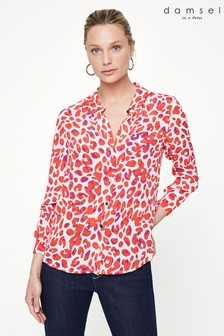 Damsel In A Dress Red Urban Leopard Blouse