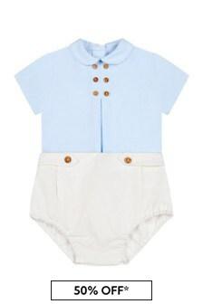Miranda Baby Boys Blue Cotton Outfit Set