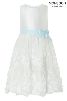 Monsoon Cream Butterfly Dress