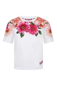 Dolce & Gabbana Kids Dolce & Gabbana Girls Pink Cotton T-Shirt