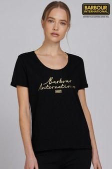 Barbour® International Metallic Script Logo Hallstatt T-Shirt
