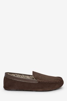 Embossed Moccasin Slippers