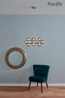 Vecchio Glass Ball And Metal Pendant by Pacific Lifestyle