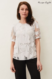 Phase Eight Grey Matisee Burnout Print Top