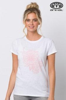 Animal White Stamped Graphic T-Shirt