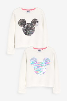 Mickey Mouse™ License Sequin Cropped Crew Neck Sweat Top (3-16yrs)