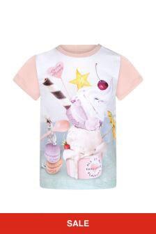 Molo Baby Girls Pink Cotton T-Shirt