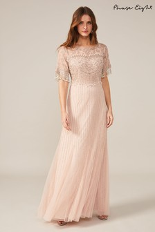 Phase Eight Pink Leonie Pearl Fringe Dress