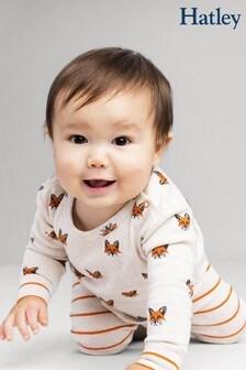 Hatley Natural Clever Fox Organic Cotton Baby Pyjama Set