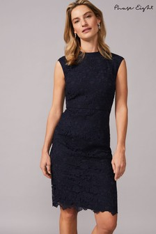 Phase Eight Blue Gretal Lace Dress