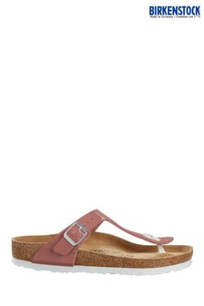 Birkenstock® Light Pink Patent Gizeh Sandals