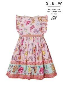 Monsoon Pink S.E.W. Baby Paisley Dress