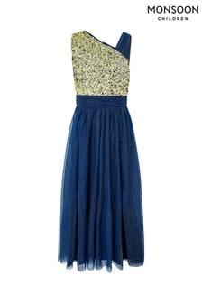 Monsoon Blue Nadia Prom Dress