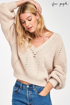 Free People All Day Long V-Neck Jumper