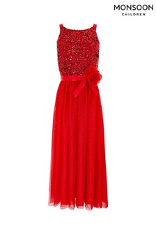 Monsoon Red Truth Maxi Prom Dress