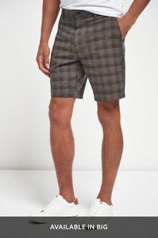 Check Chino Shorts