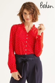 Boden Red Pippa Blouse