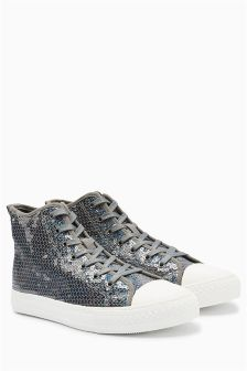 Sequin High Top Trainers