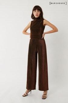 Warehouse Bronze Metallic Trousers