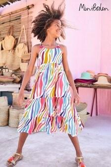 Boden Multi Tiered Tassel Dress