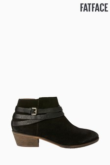 FatFace Black Sawtry Strappy Ankle Boots