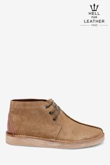 Leather Seam Desert Boots