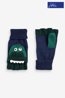 Joules Blue Chummy Character Converter Gloves